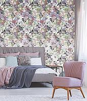 Обои Цветы для спальни в ретро стиле фм фото картинки дизайнерские Pastel flowers Retro style 155 см х 260 см
