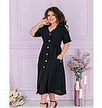 Женское повседневное платье большого размера с V-образным вырезом, фото 2