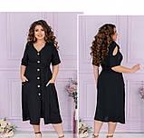 Женское повседневное платье большого размера с V-образным вырезом, фото 3