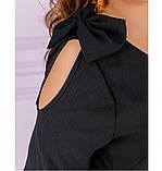 Женское повседневное платье большого размера с V-образным вырезом, фото 4