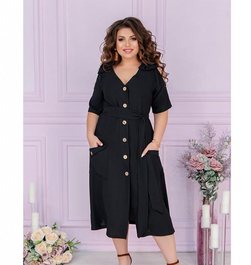 Женское повседневное платье большого размера с V-образным вырезом