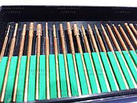 Алмазные боры 30шт. (мелкая фракция, желтые) YDS Tools. Хвостовик Ø 2.35 мм.