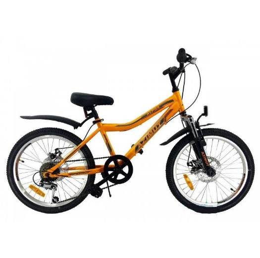 Детский двухколесный велосипед Azimut Alpha F/RD 20 дюймов оранжевый
