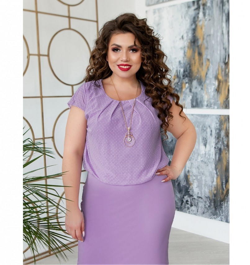 Платье женское большого размера со вшитой в талию резинкой