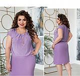 Платье женское большого размера со вшитой в талию резинкой, фото 4