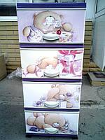 Комод пластиковый Teddy bear Elif