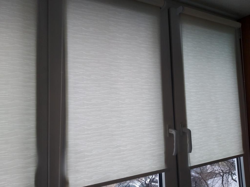 Рулонные шторы Lazur Полтава. Тканевые ролеты Лазурь (Ван Гог) Полтава