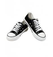 Кеды черные на шнурках