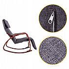 Крісло качалка Goodhome TXRC-02 Grey-Brown, фото 5