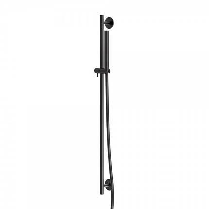 100 1601 S Steinberg Serie 100 Душовий гарнітур з штангой 900мм, з ручним душем, матовий чорний, фото 2