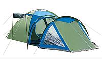 Палатка 4-х местная Presto Acamper SOLITER 4 PRO зелено - синий - 3500мм. H2О - 5,3 кг.