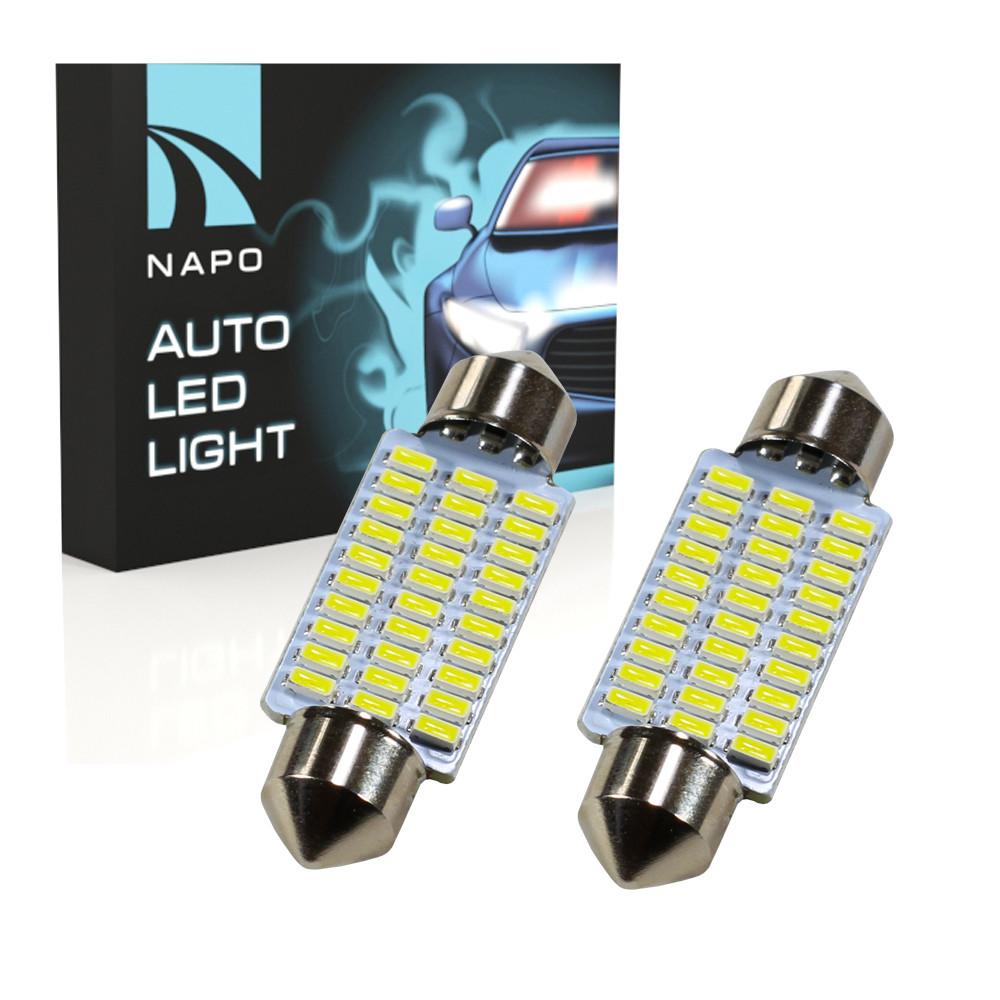 Лампа автомобильная LED SJ-4014-30SMD-39mm комплект 2 шт C5W C10W T11 цвет свечения белый