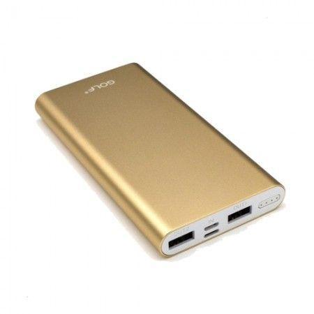 Power Bank 10000 mah GOLF USB/microUSB/USB TYPE S (Портативное зарядное устройство, повербанк)