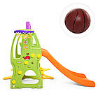 Детская горка-качель BAMBI HF-H002 баскетбольное кольцо разноцветная пластиковая, фото 3