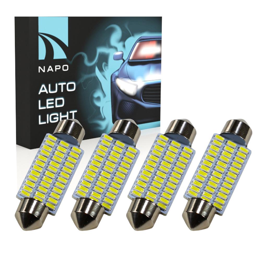 Лампа автомобильная LED SJ-4014-36SMD-41mm комплект 4 шт C5W C10W T11 цвет свечения белый