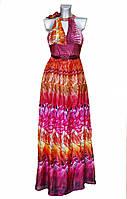 Шелковое летнее длинное женское платье Nicowa