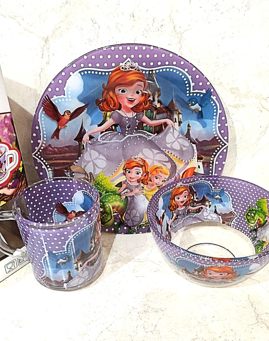 Набор детской посуды 3 предмета с Принцесса София и Друзья (A9551/2)