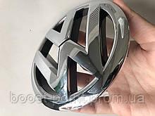 Передняя эмблема Volkswagen caddy 2010+ на защелках (d-132мм) Значок с логотипом Фольксваген кадди кедди