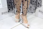Кожаные бежевые босоножки Iskrina 404(L20163A-90-774), фото 2
