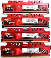 Комплект оперативной памяти G.Skill RipjawsX DDR3 16Gb (4*4Gb) 1600MHz PC3 12800U CL9 (F3-12800CL9D-8GBXL) Б/У, фото 1