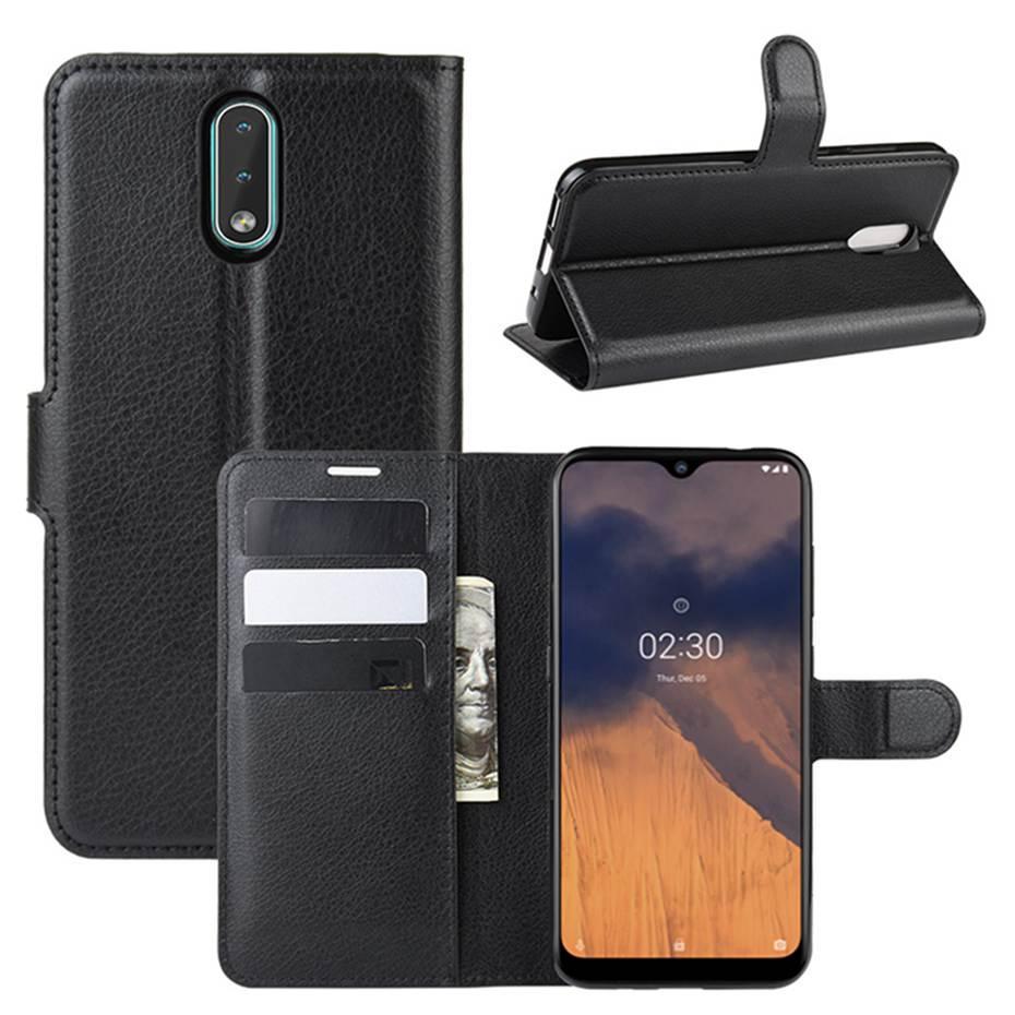 Чехол Luxury для Nokia 2.3 книжка черный