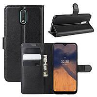 Чехол Luxury для Nokia 2.3 книжка черный, фото 1