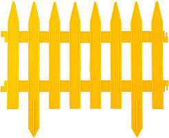 """Забор декоративный """"РЕЙКА"""", 28 х 300 см, жёлтый, 7 секций // PALISAD 65000"""