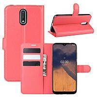 Чехол Luxury для Nokia 2.3 книжка красный