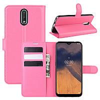 Чехол Luxury для Nokia 2.3 книжка розовый