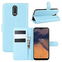 Чехол Luxury для Nokia 2.3 книжка голубой