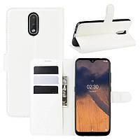 Чехол Luxury для Nokia 2.3 книжка белый