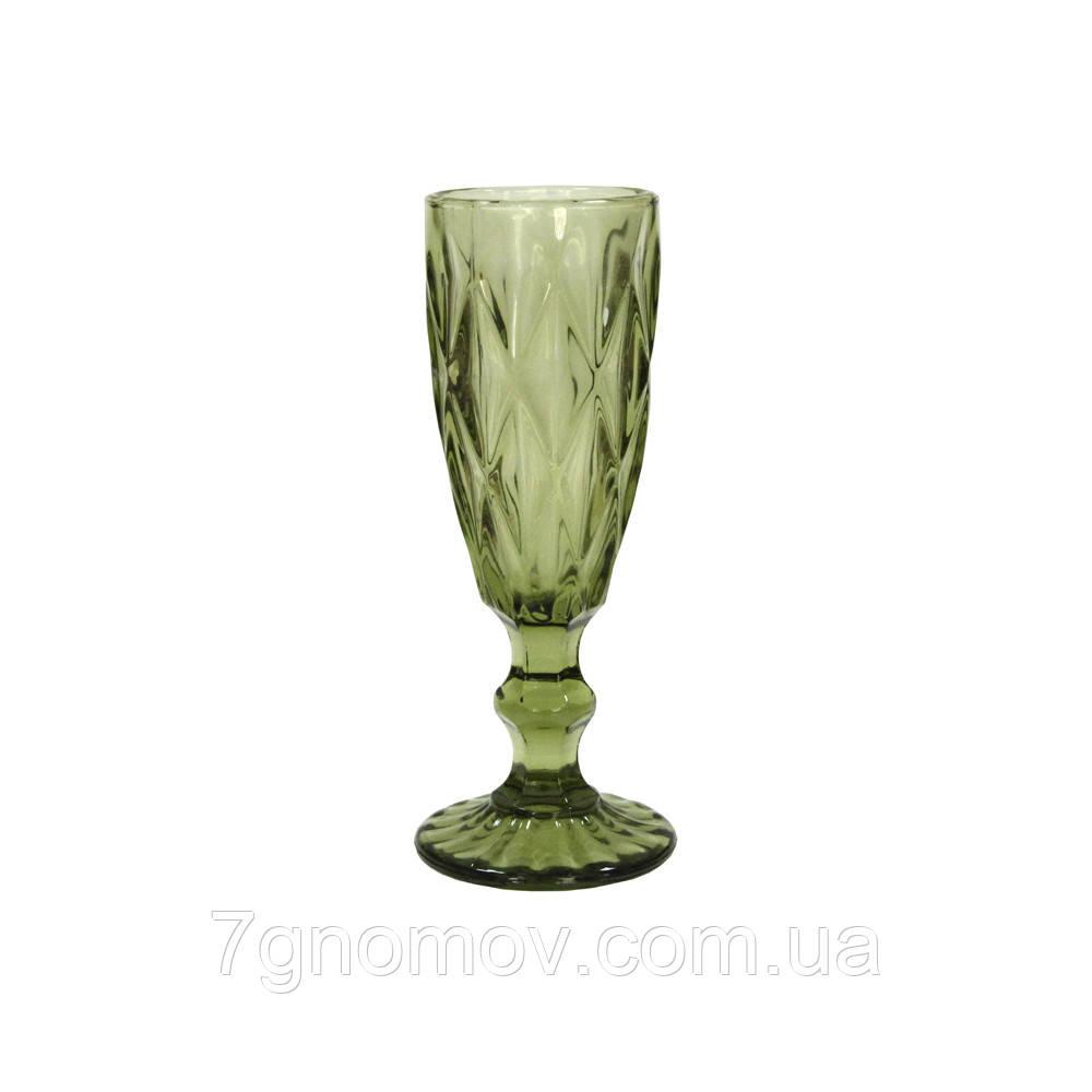 Набор 6 бокалов для шампанского из зеленого цветного стекла Bailey Miranda по 180 мл (101-89-0)