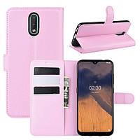 Чехол Luxury для Nokia 2.3 книжка светло-розовый