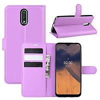 Чехол Luxury для Nokia 2.3 книжка фиолетовый