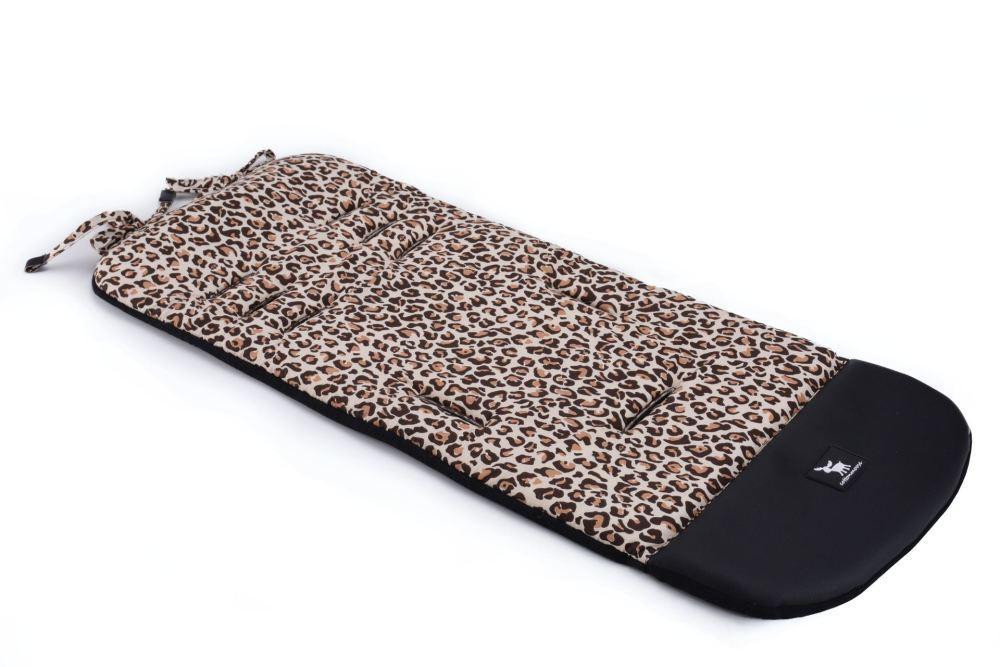 Матрас в коляску Cottonmoose Leather 590/79/109 pantera cotton (леопардовый, черная эко-кожа)