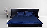Кровать в стиле Лофт из натурального дерева на заказ