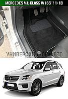 3D Коврики Mercedes ML-Class W166 '11-18. Текстильные автоковрики Мерседес, фото 1