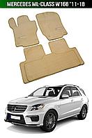 Коврики Premium Mercedes ML-Class W166 '11-18. Текстильные автоковрики Мерседес, фото 1