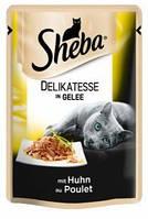 Влажный консервированный корм с Курицей в желе 85 г Sheba Шеба