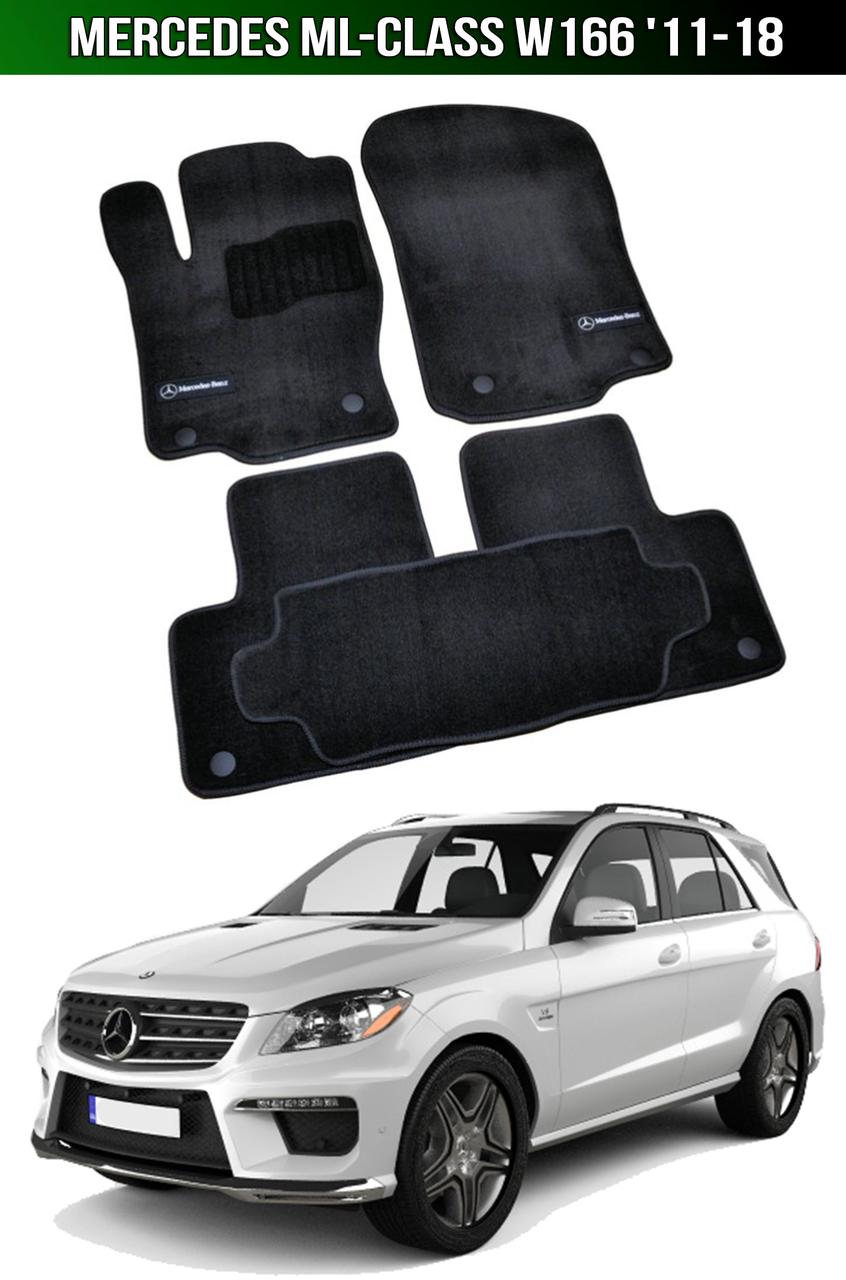 Коврики Premium Mercedes ML-Class W166 '11-18. Текстильные автоковрики Мерседес