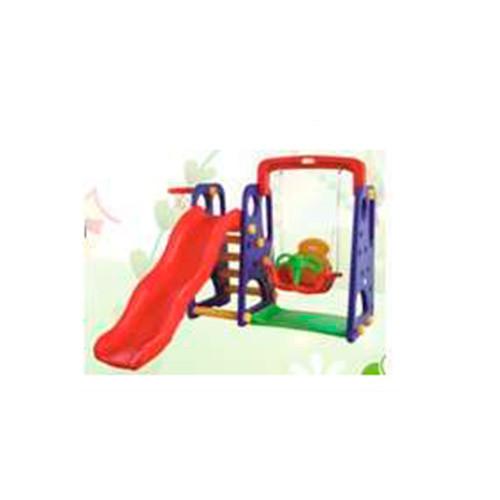 Детская горка-качель BAMBI XYL-AS05 баскетбольное кольцо красно-фиолетовая пластиковая