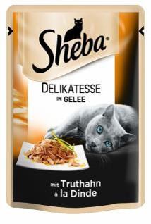 Влажный консервированный корм с Индюшкой в желе 85 г Sheba Шеба
