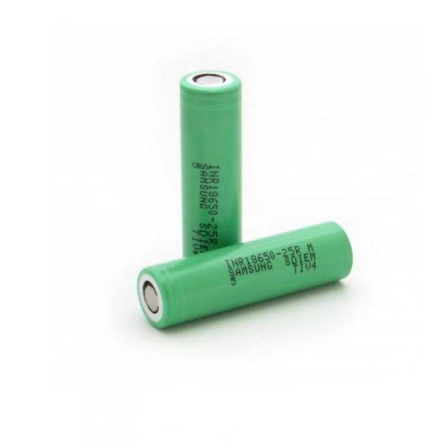 Литий-ионный аккумулятор 18650 Samsung INR18650-25R, 2500mAh, 20A, 4.2/3.6/2.5V