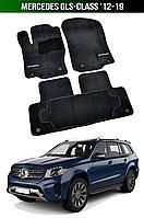 Коврики Premium Mercedes GLS-Class '12-19. Текстильные автоковрики Мерседес, фото 1