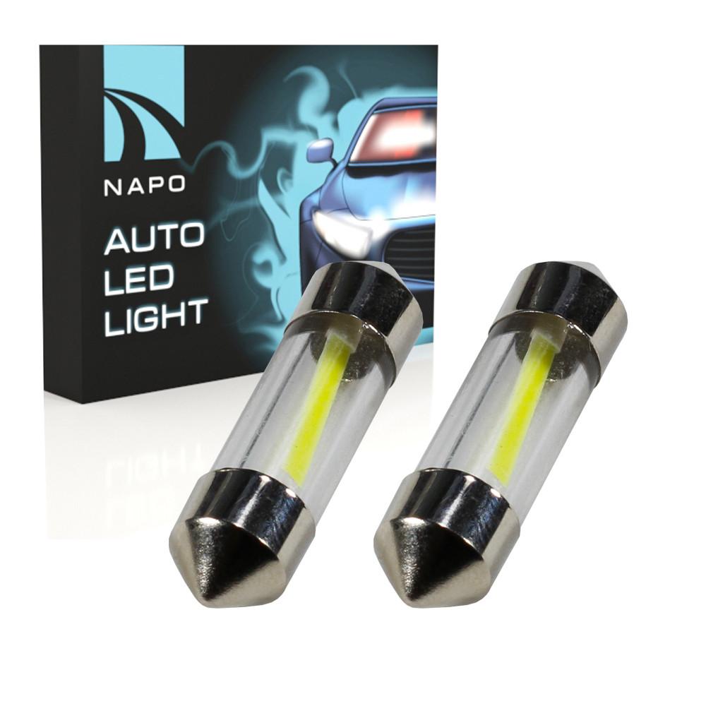 Лампа автомобильная LED SJ-COB-31mm.t11-034 31mm комплект 2 шт C5W C10W T11 цвет свечения белый