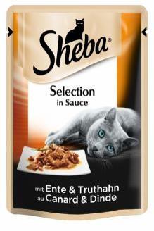 Влажный консервированный корм с Уткой и Индюшкой в соусе 85 г Sheba Шеба