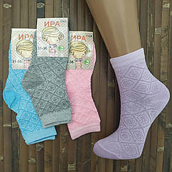 Носки детские сетка ажур для девочки Ира Т308 ассорти 31-36 размер,20007447