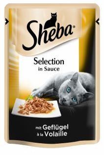 Влажный консервированный корм с Домашней птицей в соусе 85 г Sheba Шеба