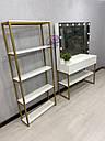 """Гримерный стол для визажиста на металлических ногах в стиле Лофт (Loft) , цвет """"золото"""", гримерная станция, фото 5"""