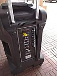 Акумуляторна колонка з мікрофонами Temeisheng SP-1509 / 400W (USB/Bluetooth/Пульт ДУ/Світломузика), фото 6